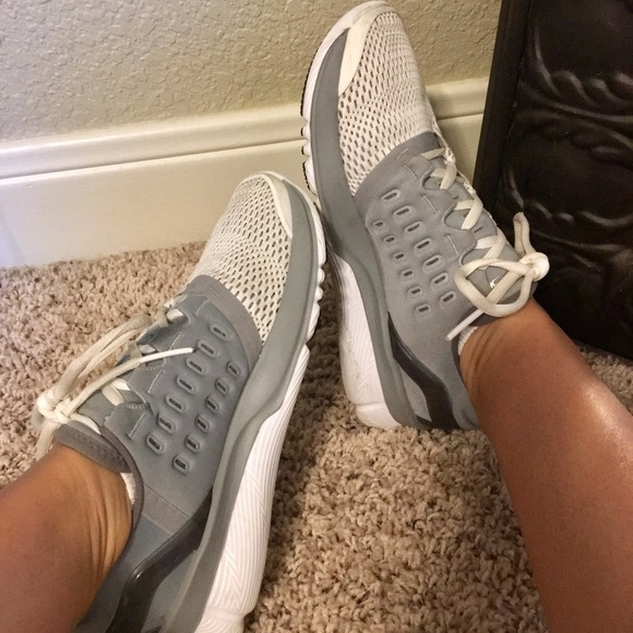 White And Gray Charged Tennis   Poshmark